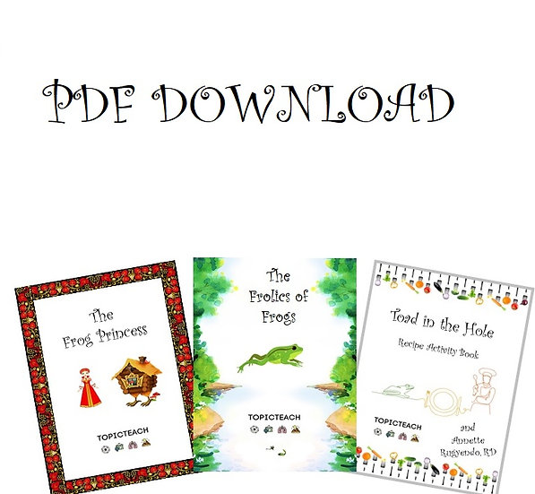 PDF Set of 3 Frogs Activity Books