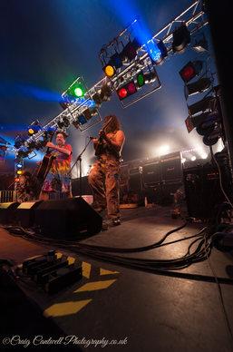 Stage Lighting at the Bonfest Music Festival