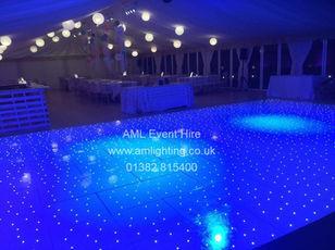 LED Dance Floor - Marquee Wedding