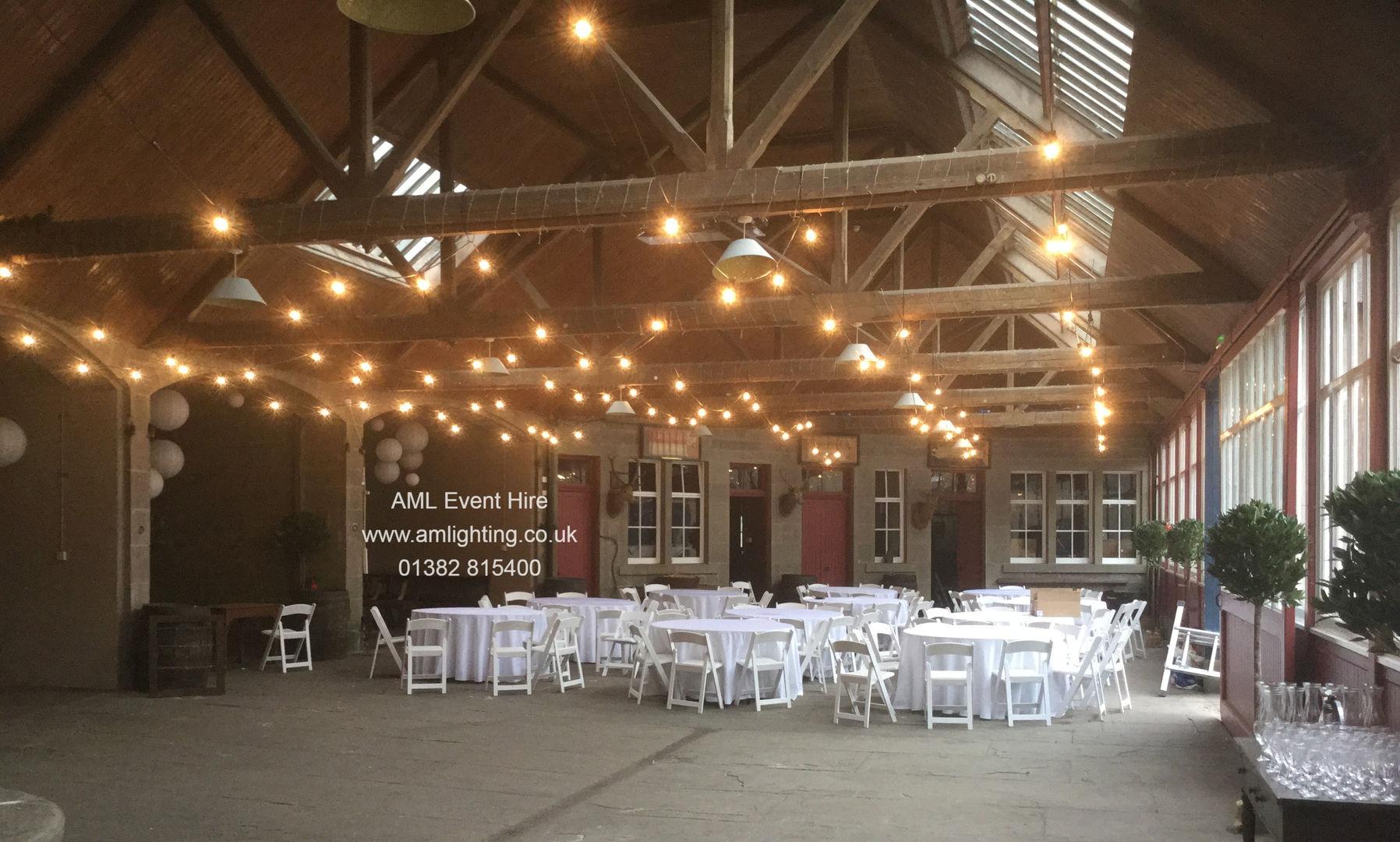 Wedding Festoon Lighting at Errol Park