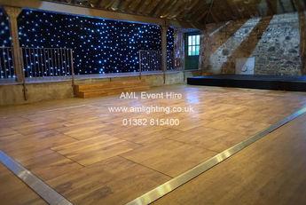 Wedding Dance Floor and Room Divide