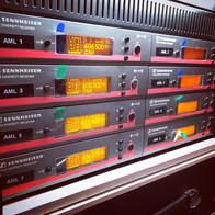 AML Event Hire Sennheiser G3 Radio Mic Rack
