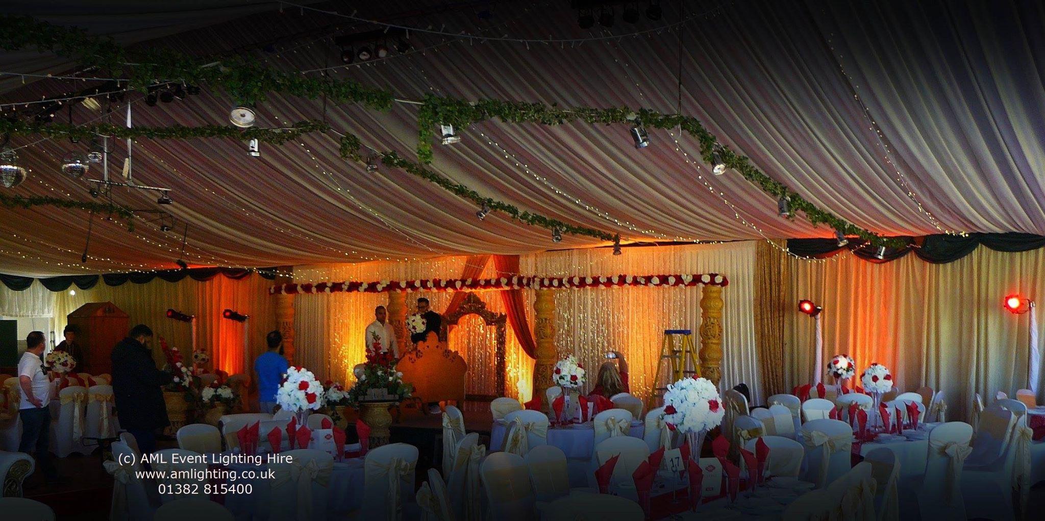 Asian Wedding Marquee Lighting