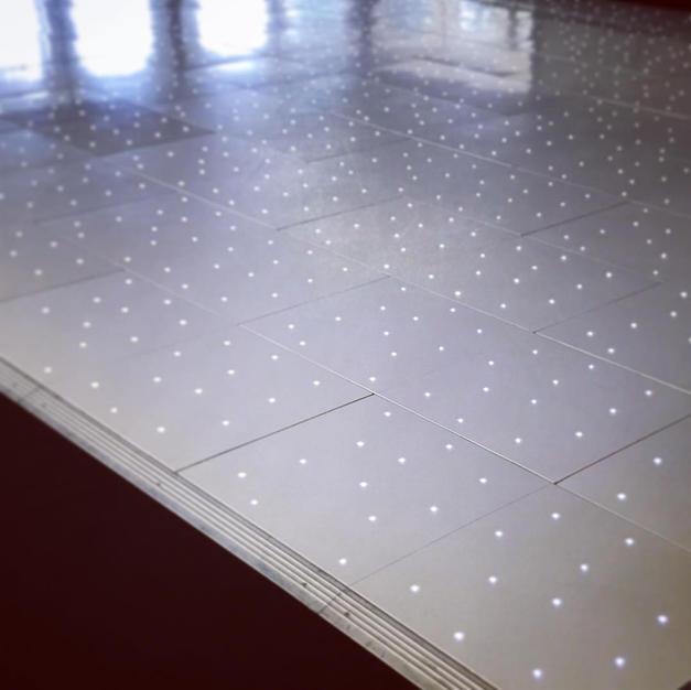 White Wedlok LED Dance Floor