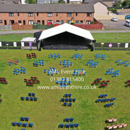AML Event Hire - Outdoor Stage & PA for a Dance Show