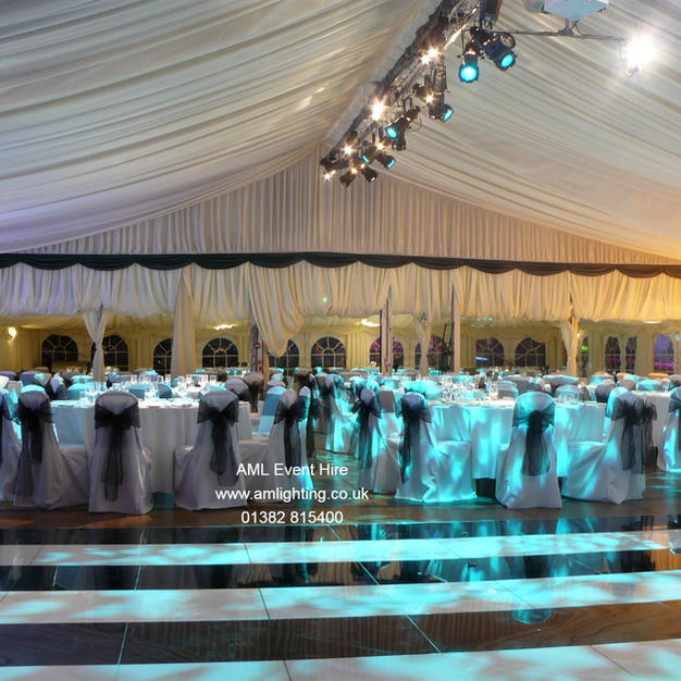 AML Event Hire - Black and White Dance Floor