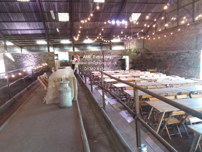 Byre Wedding - Festoon Lighting