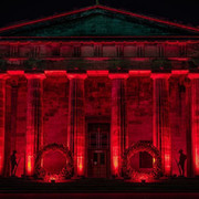 Red Led Lighting in Dundee for Remembrance