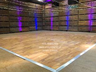 Oak Dance Floor and Fairy Light Canopy