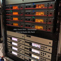 AML Event Hire - Sennheiser G3 & G4 Radio Mic Rack