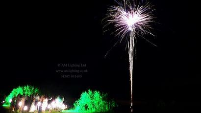 Wedding Fireworks and Lighting