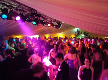 Marquee Lighting for Student Event