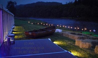 Riverside Wedding Lighting
