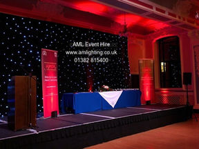 AML Event Hire -  Marryat Hall Star Cloth