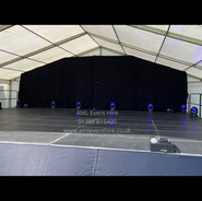 Portable Stage & Star Cloth for an outdoor show.
