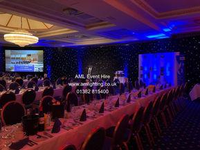 AML Event Hire - Awards Cerememony Star Cloth