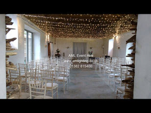 Fairy Light Canopy at The Cow Shed, Crail