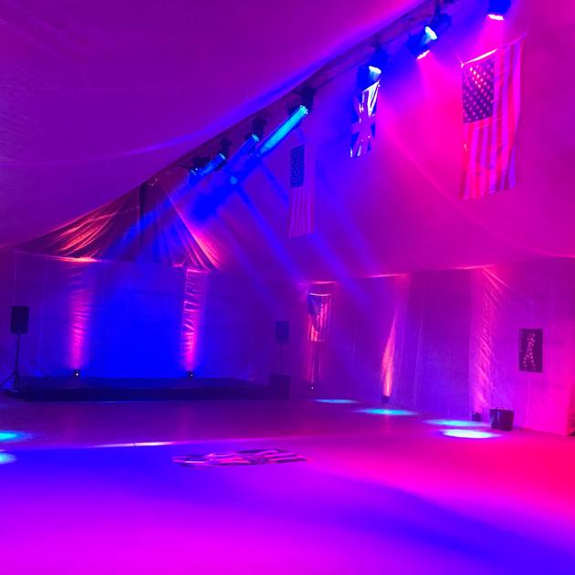 Tatty Shed LED Up Lighting