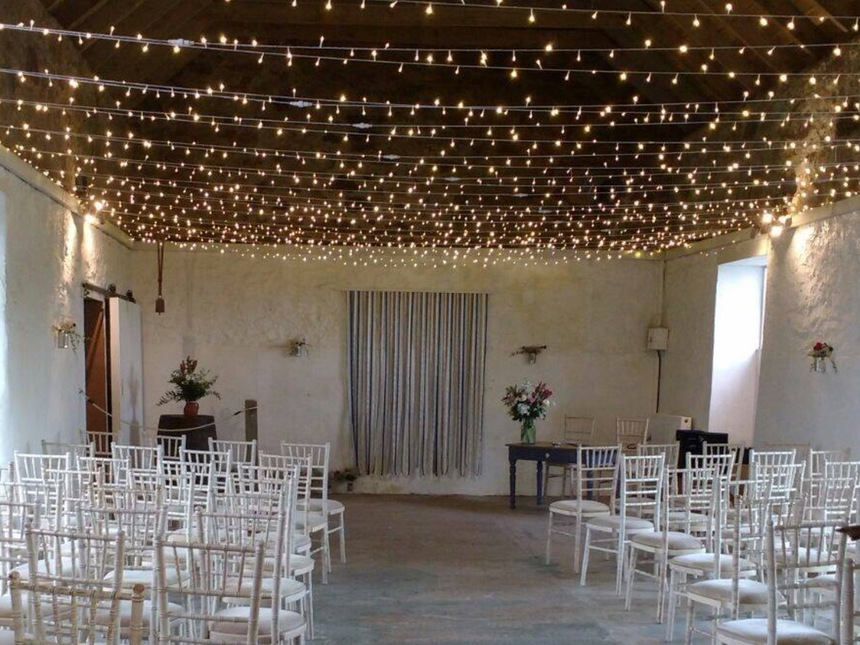 Fairy Light Canopy for Wedding Ceremony
