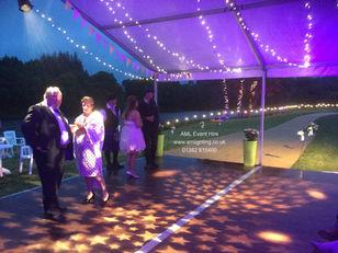 Wedding Gobo Lighting and Fairy Lights