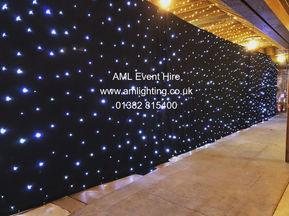 AML Event Hire - Wedding Star Cloth