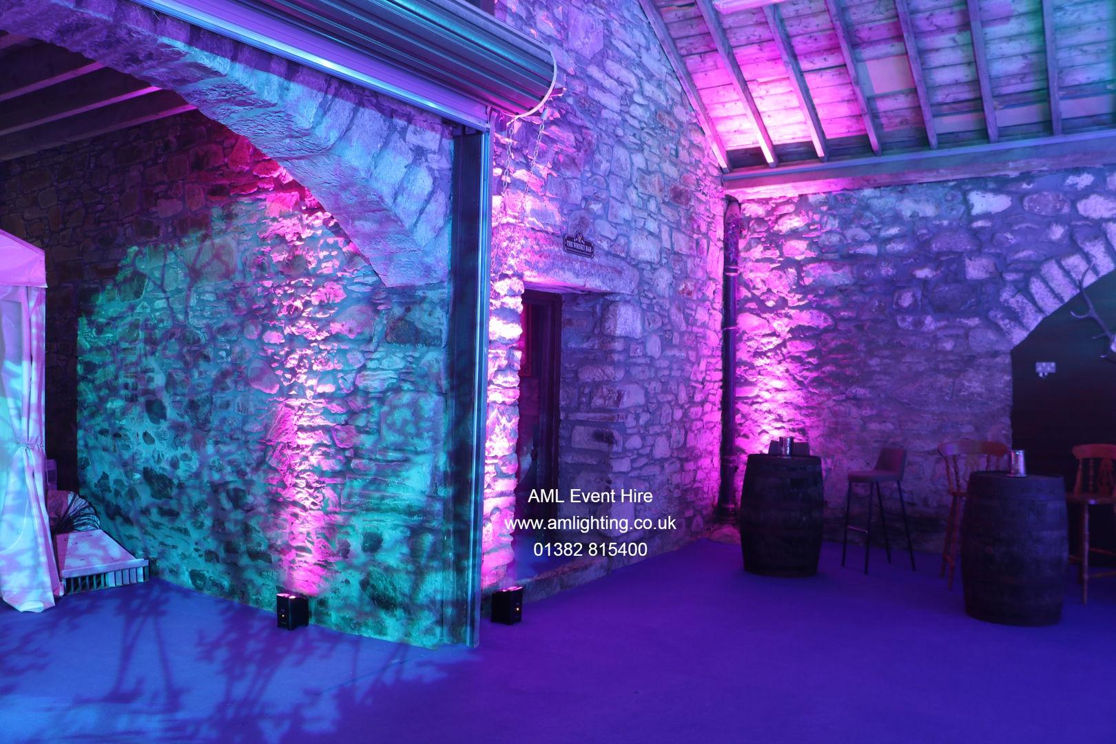 Battery Up Lighting for Weddings