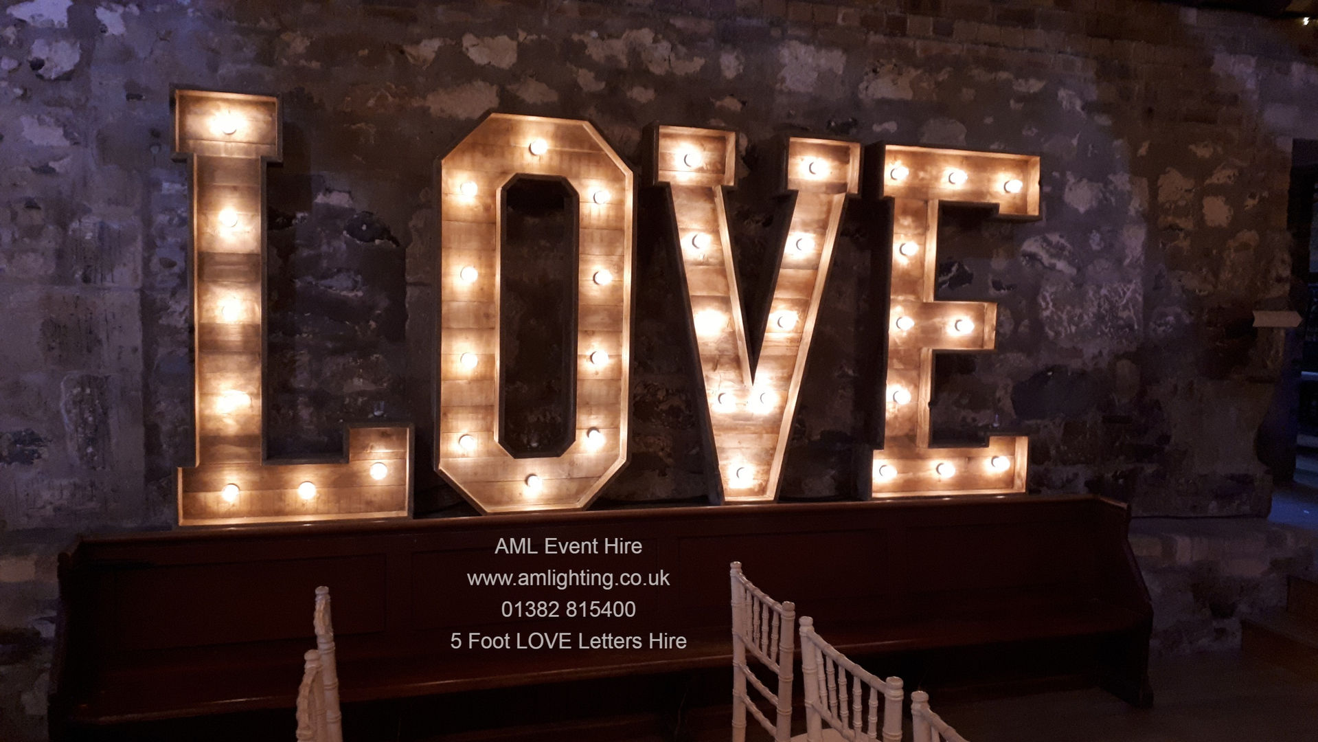 5 Foot Love Letter Hire