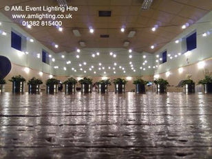 Festoon Lighting in Monikie Memorial Hall