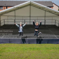 AML Event Hire - Outdoor Portable Stage