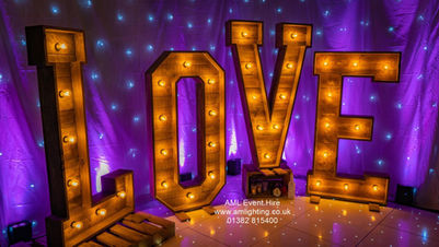 Rustic Wooden Love Letters