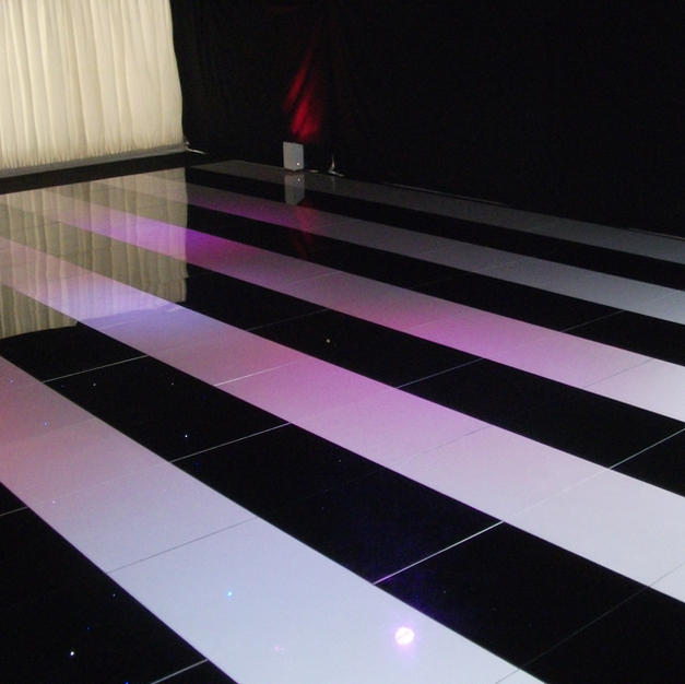 Black and White Striped Dance Floor