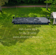 Outdoor Event Stage at Monikie Country Park, Angus