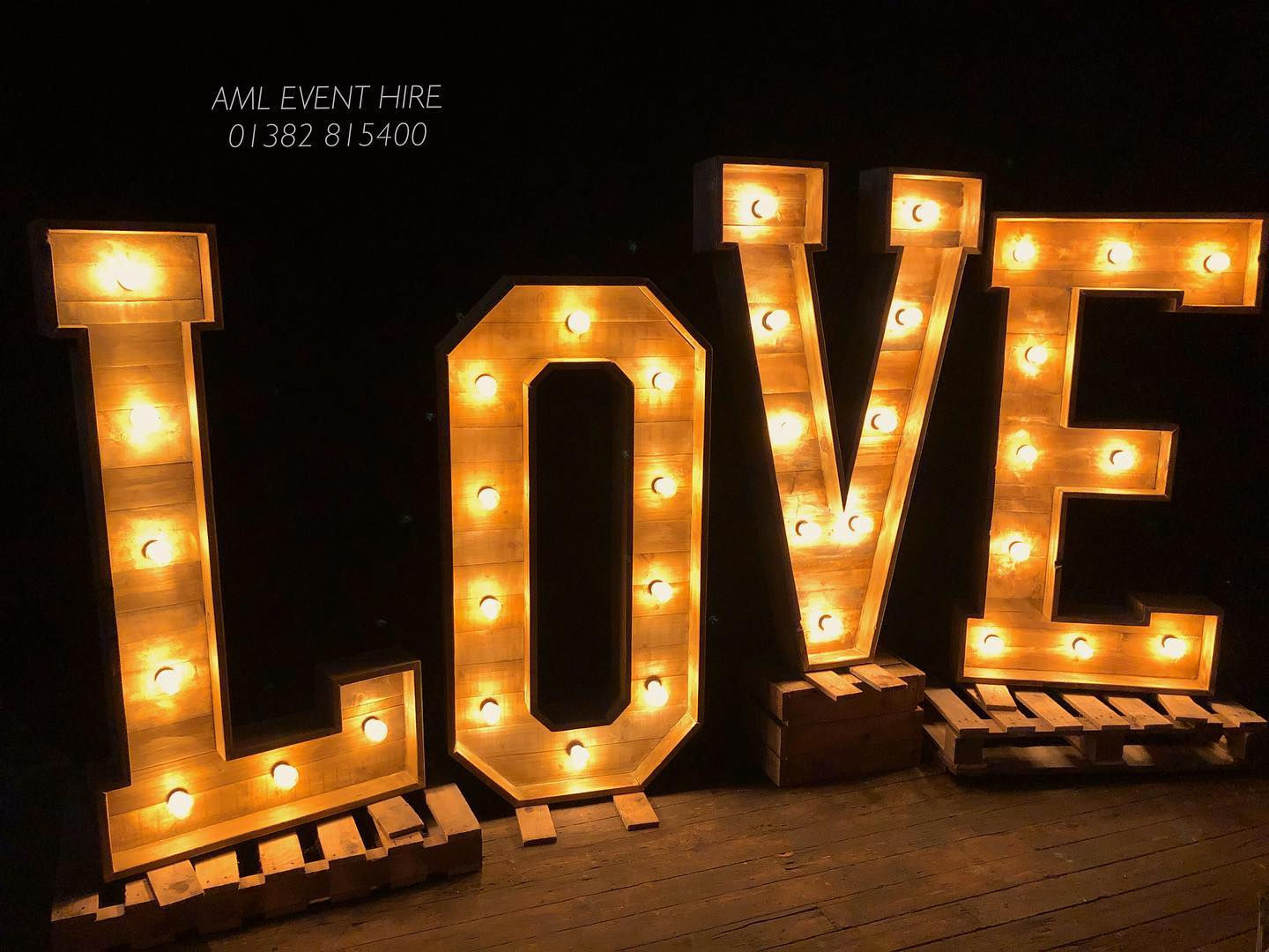 AML Event Hire Love Letters