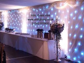 White LED Wedding Backdrop