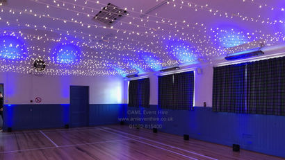 Fairy Lights and Lighting at Stanley Village Hall