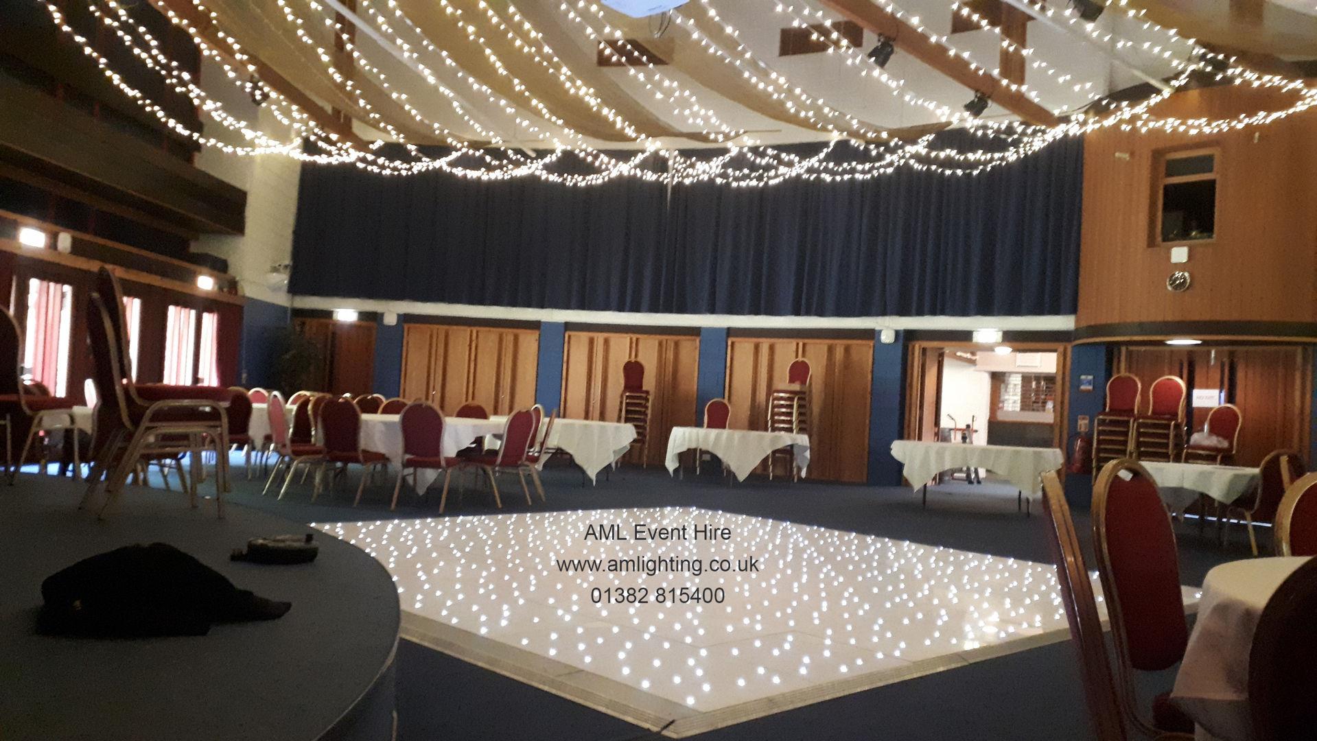 LED Dance Floor and Fairy Light Canopy