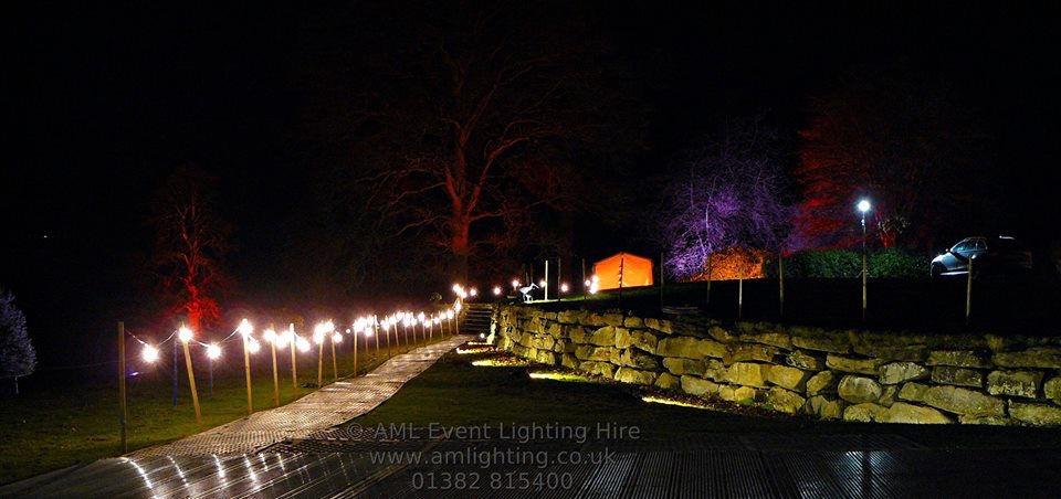 Marquee Wedding Path Lighting