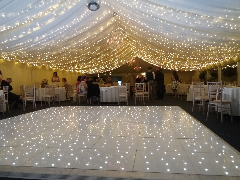 Fairy Light Canopy and LED Dance Floor