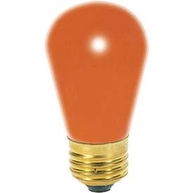 Satco Orange S14 Incandescent Bulb