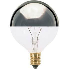 Satco G16 Silver Crown Globe Incandescent Bulb