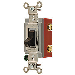 HUBBELL WIRING DEVICE-KELLEMS -Wall Switch, 1-pole