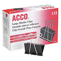 ACCO Binder Clip - Black, Various sizes