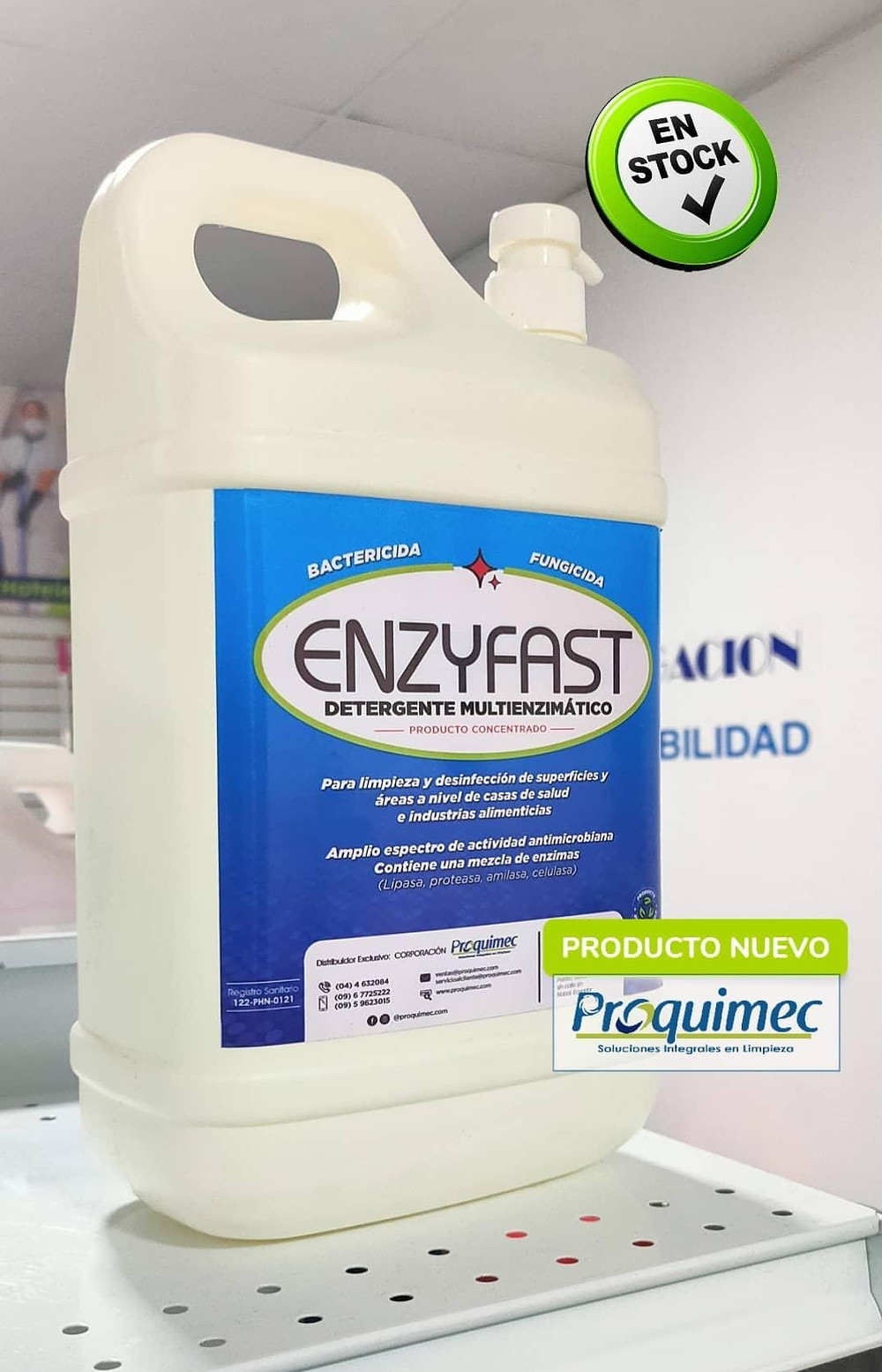 Detergente enzimático Ecuador