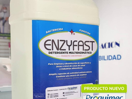 Detergente enzimático ENZYFAST de Proquimec