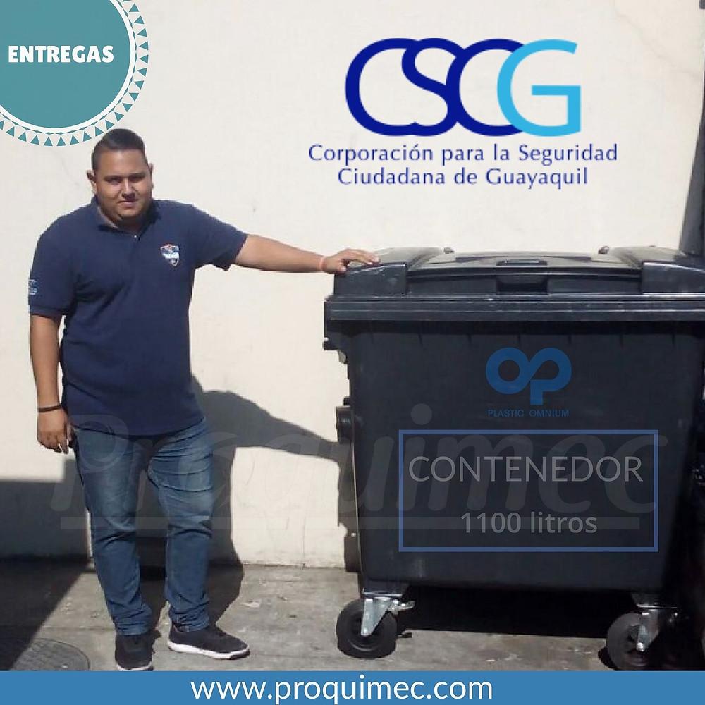 Entrega de Contenedores industriales en la CSCG