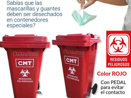 No botes las mascarillas al tacho de basura