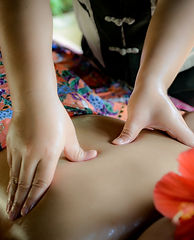 The spa massage