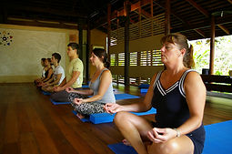 The spa meditation and yoga