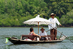 Wooden boat in salak kok