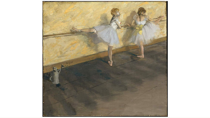 Dancers Practicing at the Barre (1877) by Edgar Degas